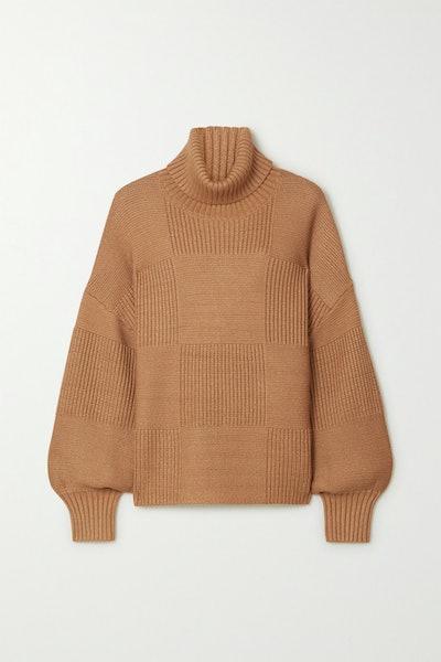 Benny Ribbed-Knit Turtleneck Sweater