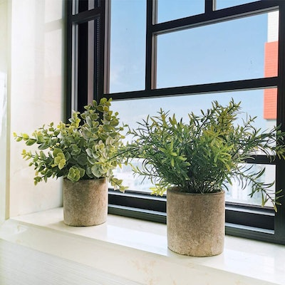 Winlyn Artificial Potted Plants (2 Pack)