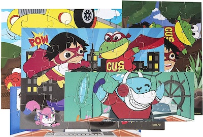 Ryan's World  Wooden Superhero Jigsaw Puzzles Set