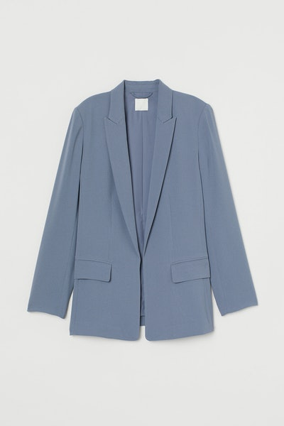 Long Jacket In Pigeon Blue