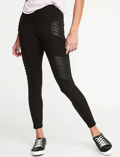 High-Waisted Moto 7/8-Length Street Leggings