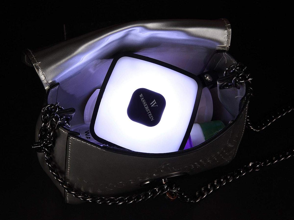Wasserstein Square Handbag Light with Integrated External Battery Pack