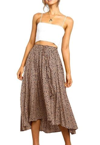 Women's Maxi Leopard Skirt Print