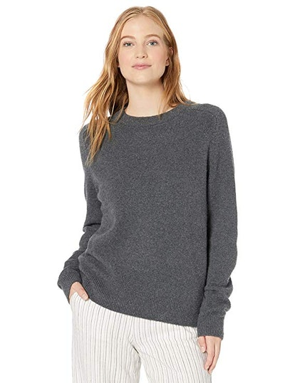 Daily Ritual Women's Cozy Boucle Crewneck Pullover Sweater