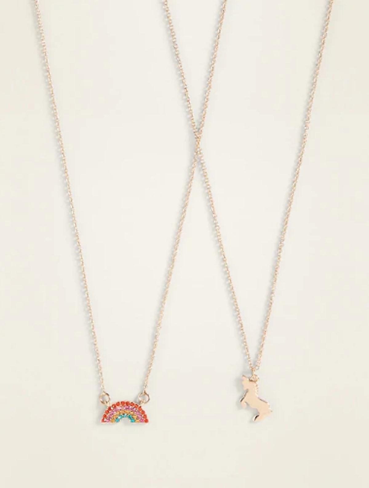Pendant Friendship Necklace 2-Piece Set