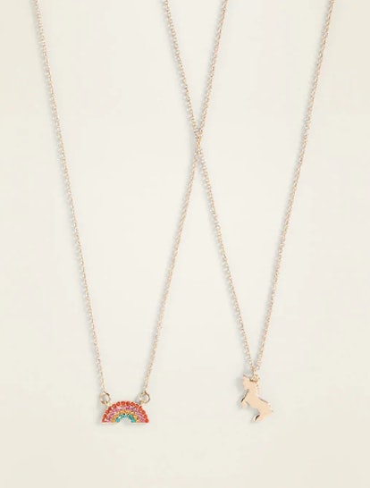 Pendant Friendship Necklace 2-Piece Set