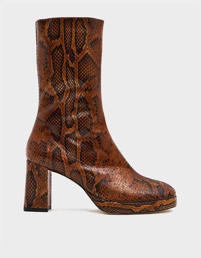Carlota Boot in Citrine Snake