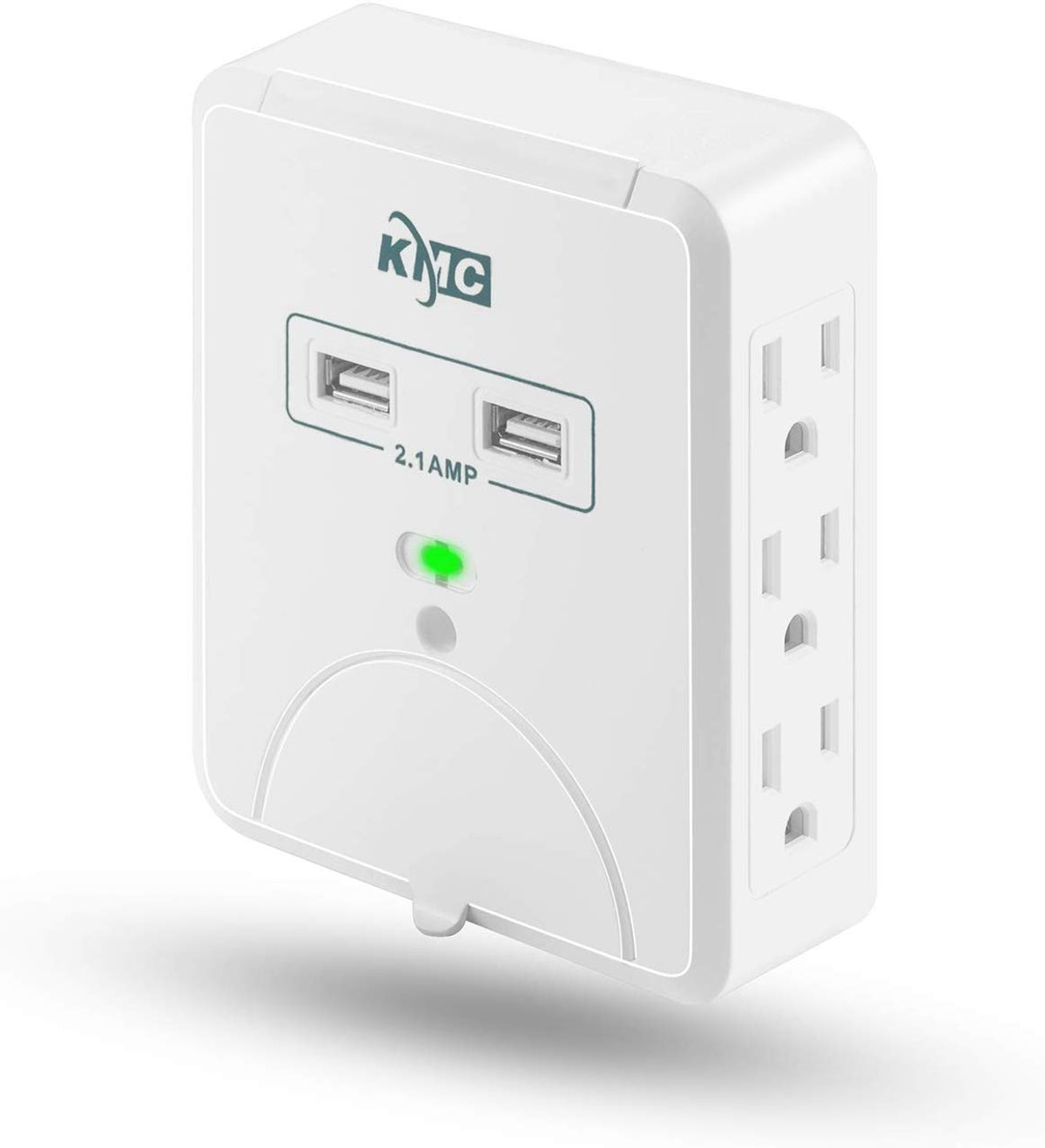 KMC Wall Surge Protector, 6 Outlets