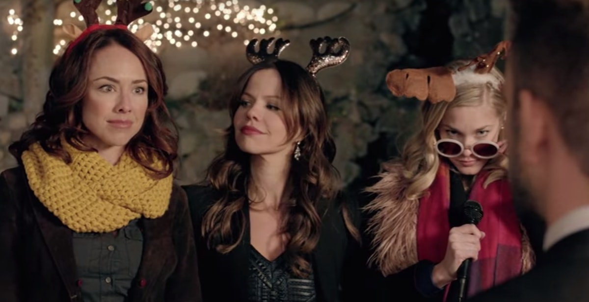 Three girls unite to get revenge on their mutual ex in 'Girlfriends of Christmas Past', available on...