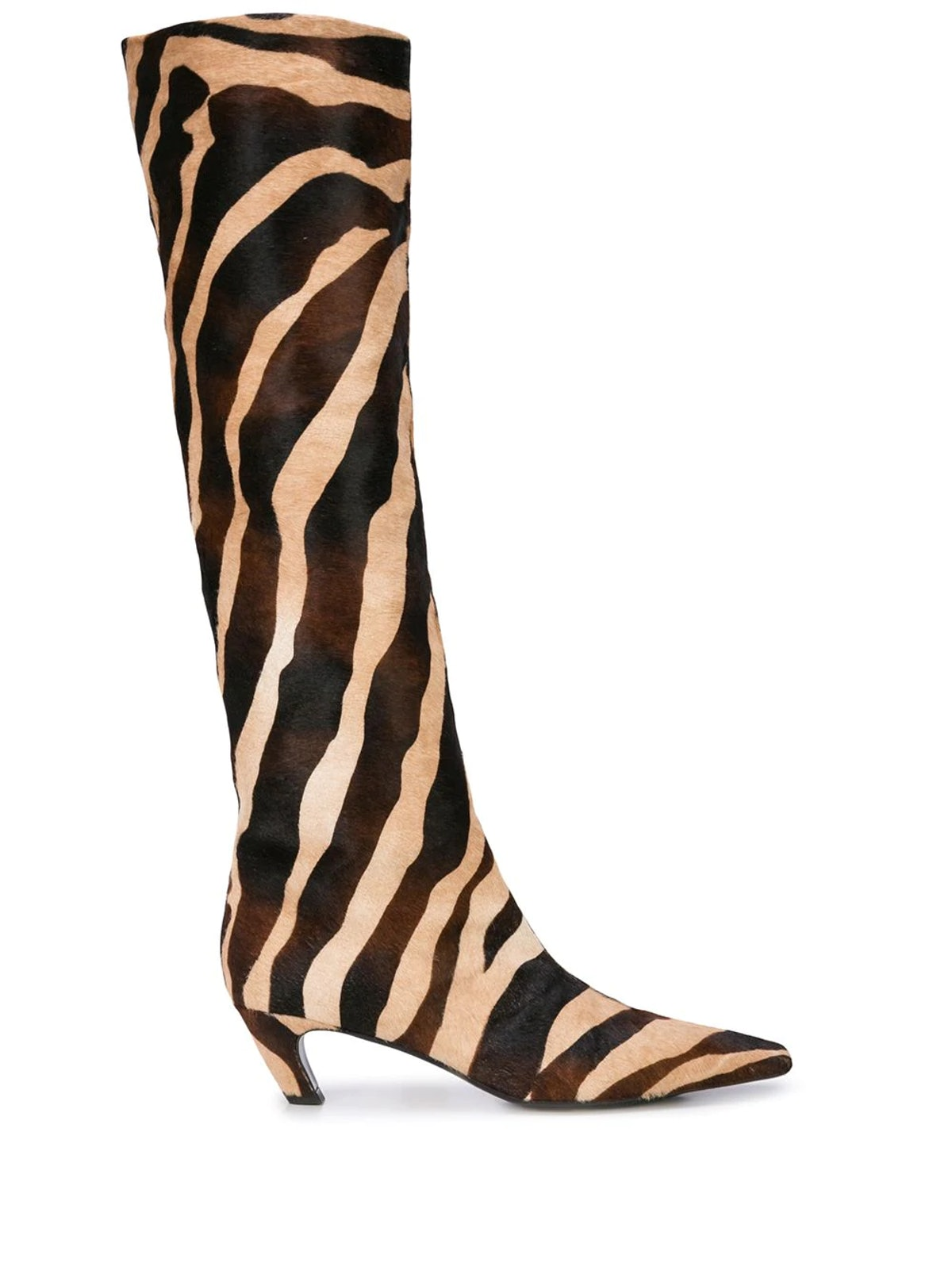 The Knee-High Zebra Print Boots