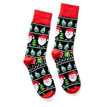 Holiday Santa Ranch Bottle Socks