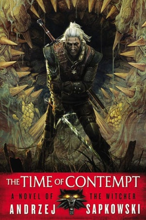 The 'Time of Contempt' cover from 'The Witcher' series