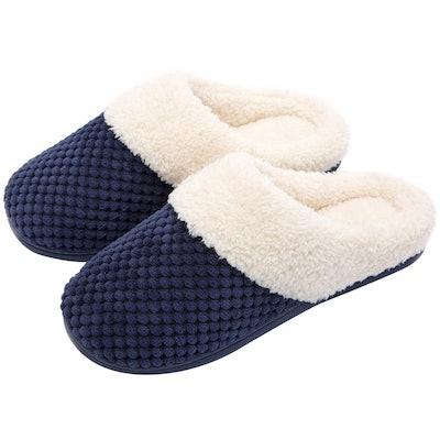 Women's Comfort Coral Fleece Memory Foam Slippers