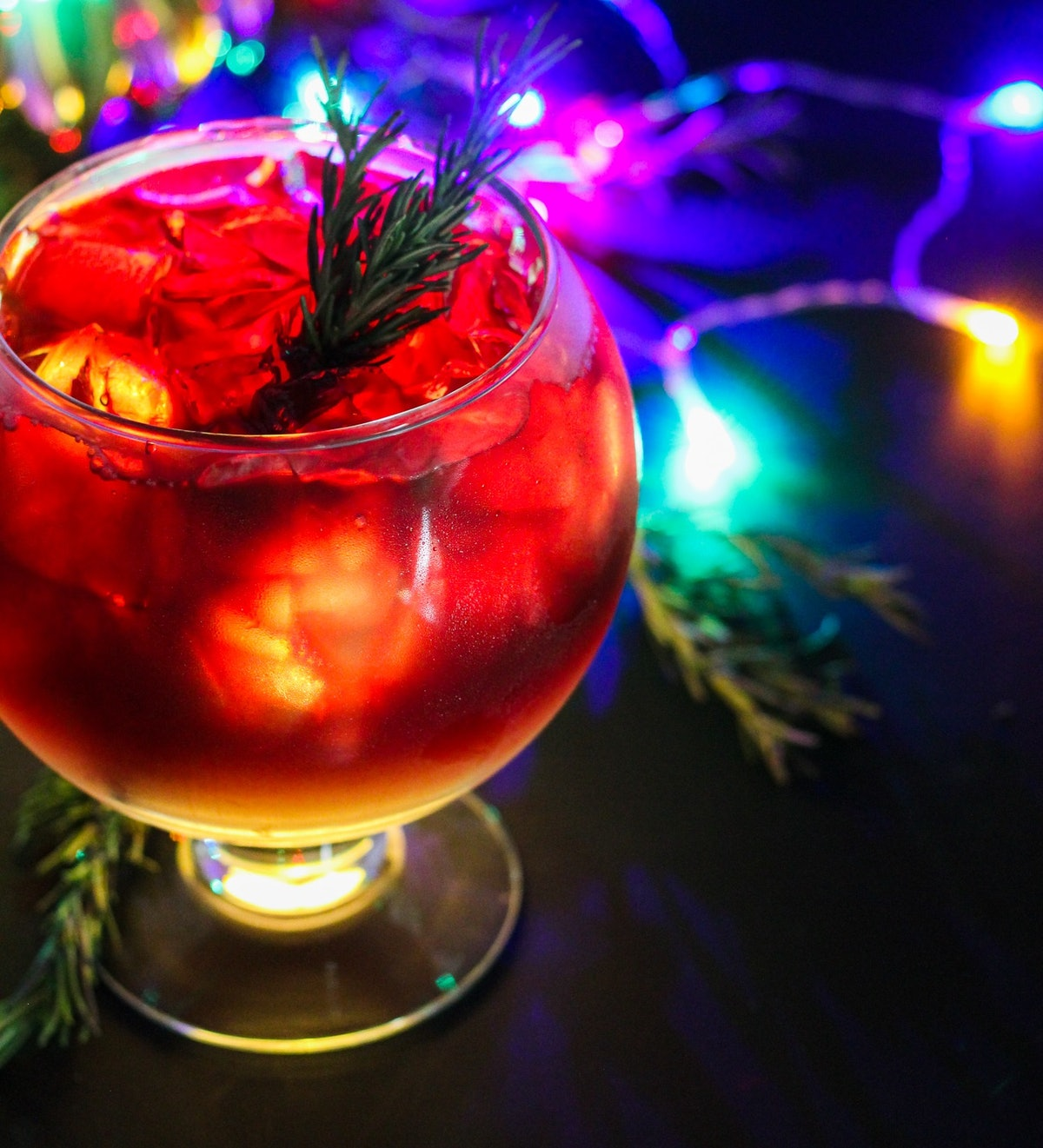 """The Glow Mega Sangria with lights is part of the """"Let It Glow""""-inspired cocktails offered at Disneyl..."""