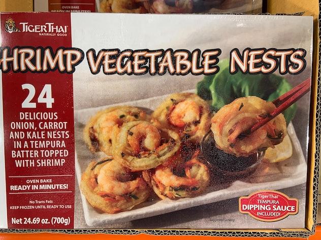 Tiger Thai Shrimp Vegetable Nests