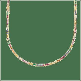 Perfect Rainbow Eternity Necklace