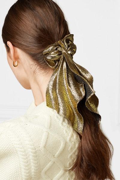 Silk and Lurex-Blend Hair Tie
