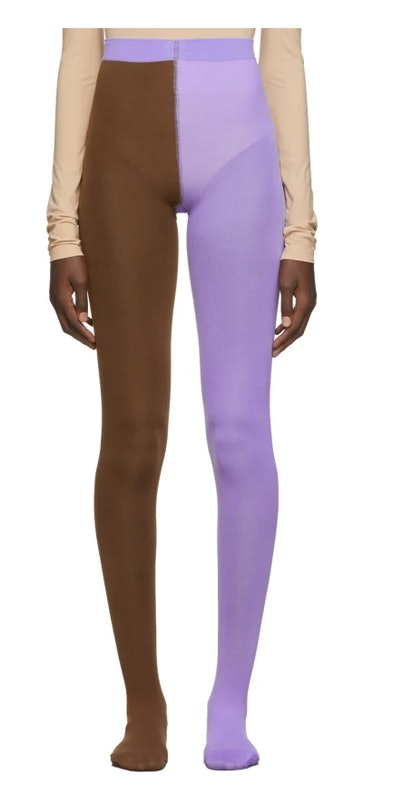 Purple & Orange 'The Left & Right' Tights