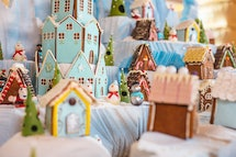 The gingerbread village is on display at The Royal.