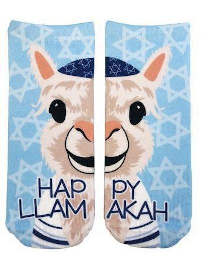 Happy Llamakah Socks
