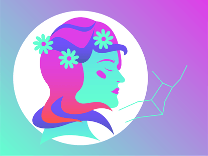 Drawing of Virgo for sex life horoscope 2020.