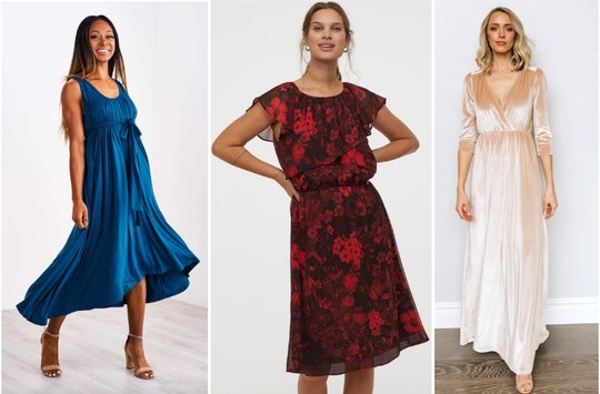 Comfortable new year's eve dresses you can breastfeed in from Latched Mama, H&M, Baltic Born
