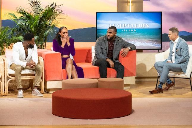 Esonica, Gavin, and Kareem at the Temptation Island Season 2 reunion