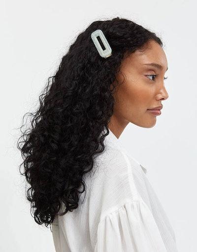 Renée Hair Clip in Blue Glitter