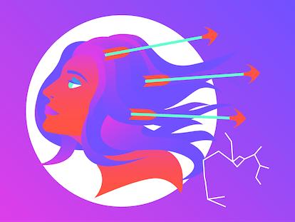 Drawing of Sagittarius for sex life horoscope 2020.
