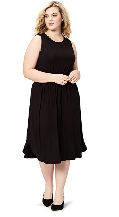 Daily Ritual Women's Plus Size Jersey Sleeveless Gathered Dress