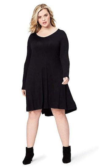 Daily Ritual Women's Plus Size V-Neck Dress