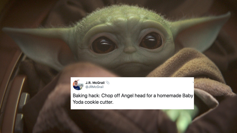Baby Yoda cookies should really be on every holiday table this year.