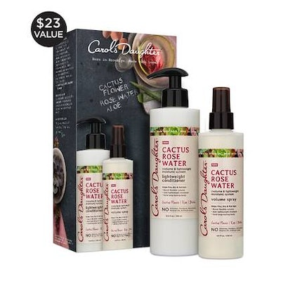 Cactus Rose Water Gift Set With Lightweight Conditioner And Volume Spray
