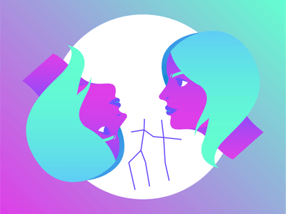 Drawing of Gemini for sex life horoscope 2020.