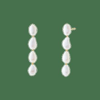Oversized Organic Pearl Earrings