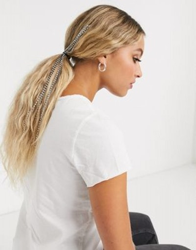 Crystal Waterfall Embellished Hair Pony Clip In