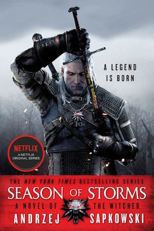 The 'Season of Storms' cover from 'The Witcher' book series