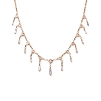 Graduated Baguette Shaker Necklace