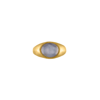 Gray Star Sapphire Roz Ring