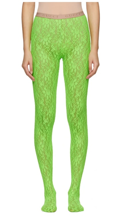 Green Lace Tights