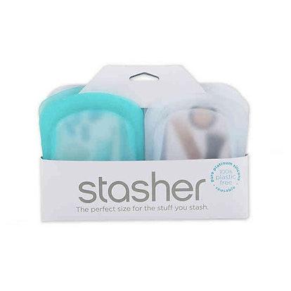 Stasher Silicon Food Storage Bags (Set Of 2)