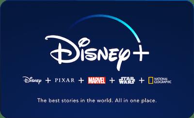 Disney+ Gift Subscription Card