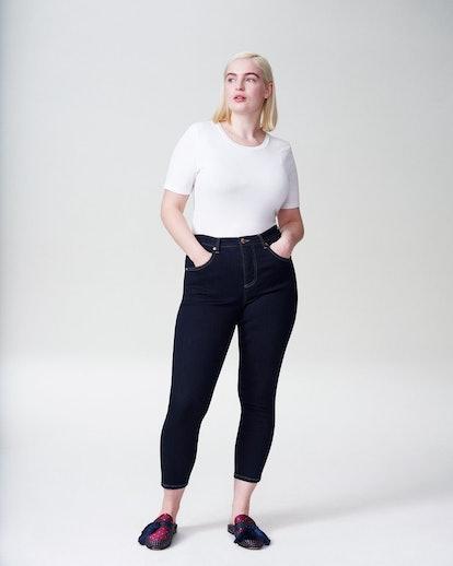 """Seine High Rise Skinny Jeans 27 Inch in """"Dark Indigo"""""""