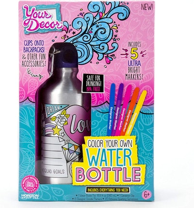 Your Décor Color Your Own Water Bottle