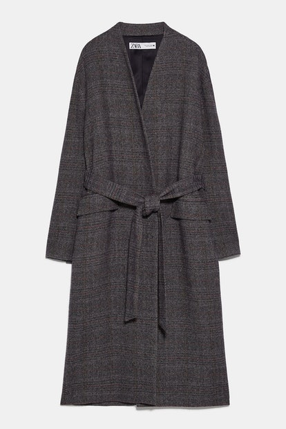 Belted Herringbone Coat