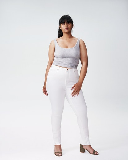 """Seine High Rise Skinny Jeans 32 Inch in """"White"""""""