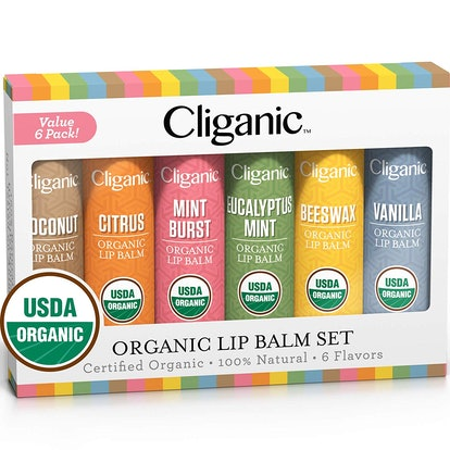 Cliganic USDA Organic Lip Balm Set (6-Pack)