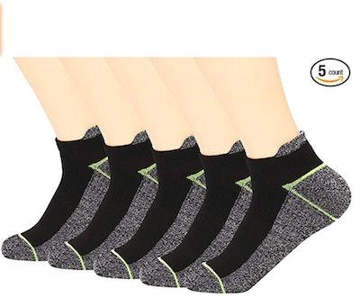 Kodal Copper Infused Athletic Low Cut Socks (5-Pack)
