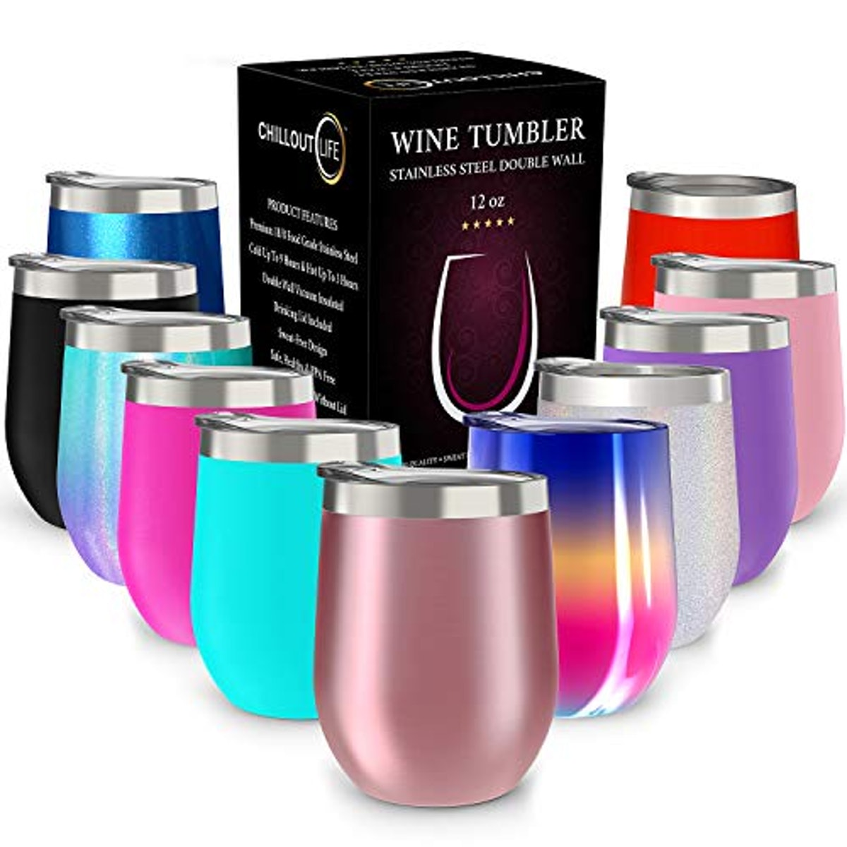CHILLOUT LIFE Insulated Wine Tumbler