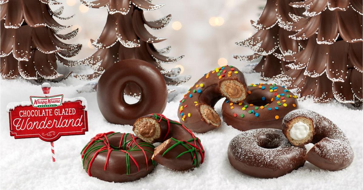 Krispy Kreme's Holiday 2019 Doughnuts Include Classic Faves & New Chocolate Treats
